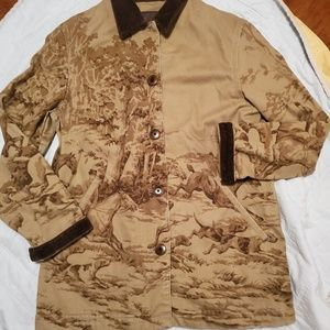 Vintage 90s Ralph Lauren Brown Hunting Jacket